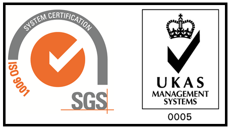 ISO and UKAS logos